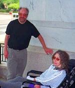 Gary and Jacki outside the Longworth Building