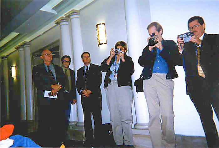 Photograph of photographers at event
